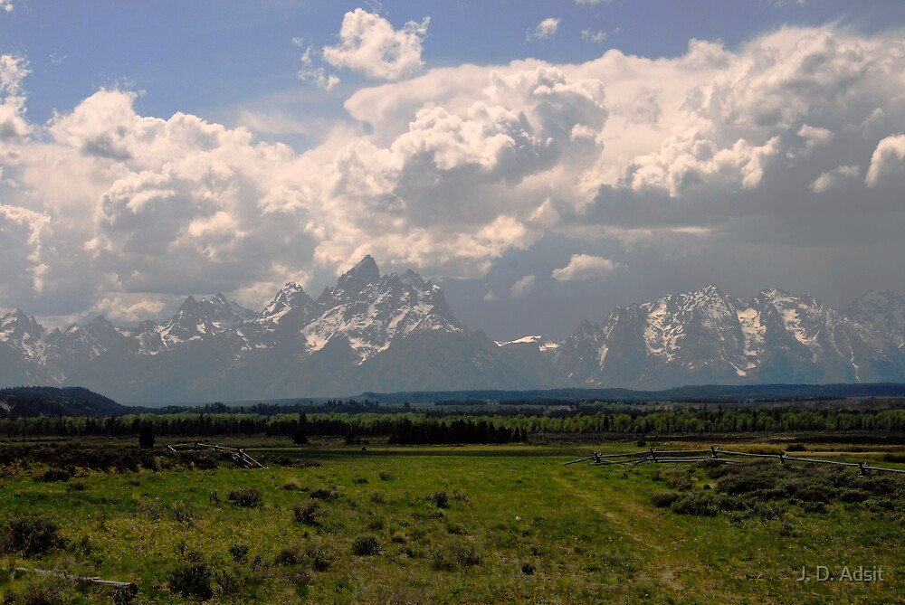 Storm on the Tetons by J. D. Adsit