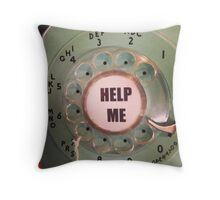 Help Me Phone Throw Pillow