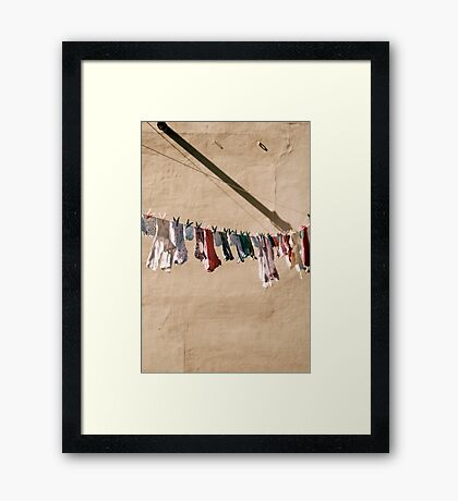 smalls on a wall Framed Print