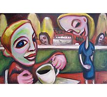 Cafe Girl Photographic Print