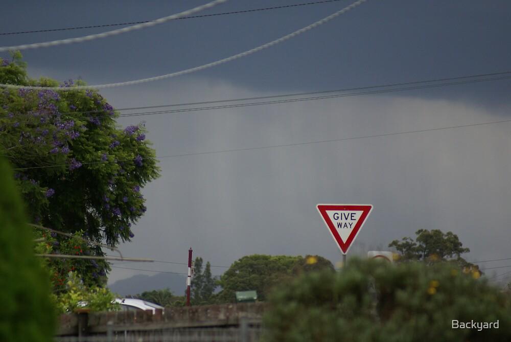 Backround Rain With Thunderstorm by Backyard