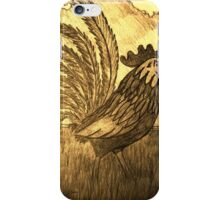 ROOSTER IN THE GRASS iPhone Case/Skin