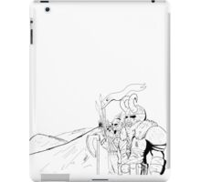 Lining up for battle iPad Case/Skin