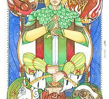Solstice Kings (Oak King up) by dreaminghazel