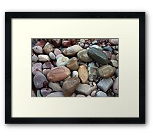 Beautiful stones in clear water lake in Glacier National Park. Nature photography. Framed Print