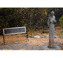 A Bishop and a Bench Photographic Print