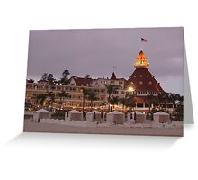 end of the beach day - del coronado hotel Greeting Card