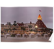 end of the beach day - del coronado hotel Poster