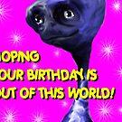 Alien Birthday Card by sonia