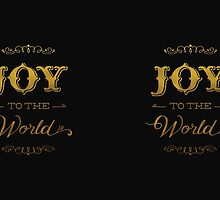 Joy to the World in gold by Jeri Stunkard