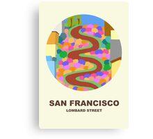 City Art San Francisco Lombard street Canvas Print
