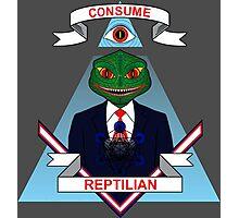 Consume Reptilian Photographic Print