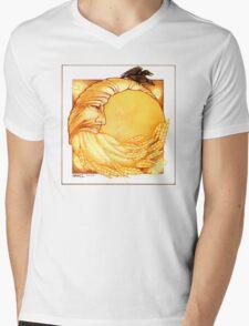 Grain Moon Mens V-Neck T-Shirt