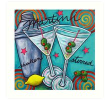 Retro Martini Art Print