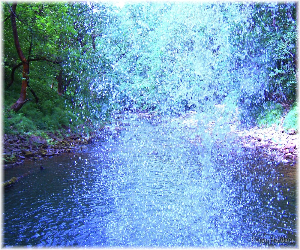 Behind the Waterfall by Karen Harding