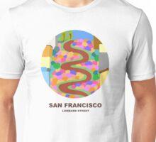 City Art San Francisco Lombard street Unisex T-Shirt