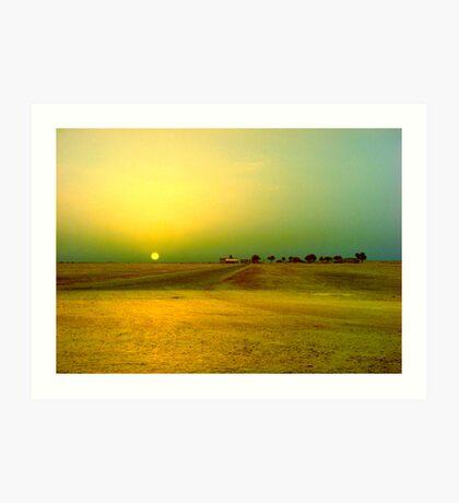 Desert sunrise, Failaka island Kuwait Art Print