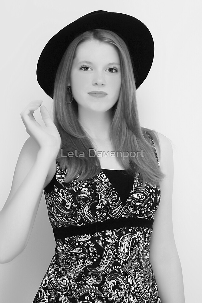 Model Black White by Leta Davenport