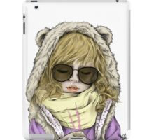Little Girl Hipster iPad Case/Skin