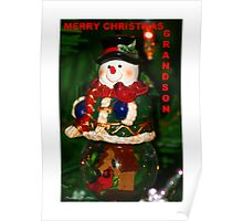 Merry Christmas Grandson Poster
