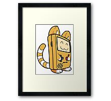 Game Boy Cat Framed Print