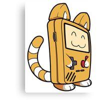 Game Boy Cat Canvas Print