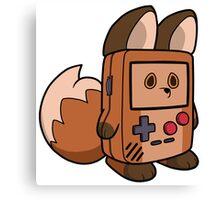 Game Boy Fox Canvas Print