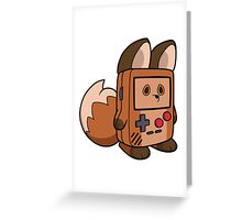 Game Boy Fox Greeting Card