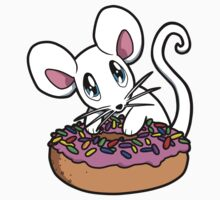 Mouse with a Donut Kids Tee