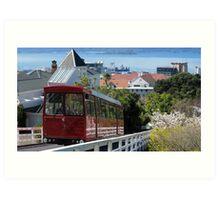 Wellington cable car Art Print