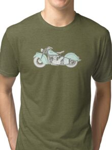 Indian Chief Motorcycle 1948  Tri-blend T-Shirt