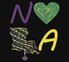I heart NOLA (Mardi Gras) Kids Clothes
