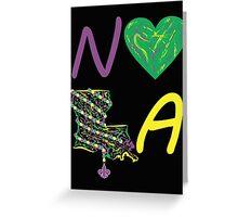 I heart NOLA (Mardi Gras) Greeting Card
