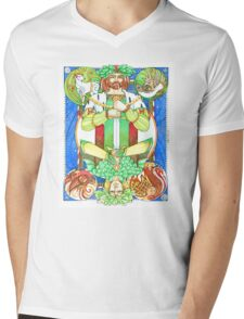 Oak and Holly Kings  Mens V-Neck T-Shirt