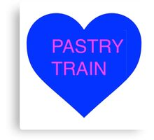 Pastry Train Heart 2 Canvas Print