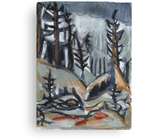 North Woods Mood(Based on a Watercolor by Charles E. Burchfield Canvas Print