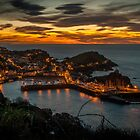 Sunset over Ilfracombe, North Devon by dykerphotoart