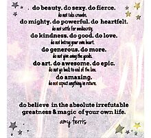 Do and Do Not... by Amy Ferris Photographic Print