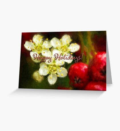 Pyracantha holiday card Greeting Card