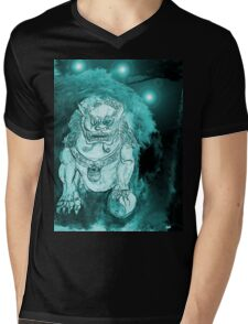 Foo Dog 3 Mens V-Neck T-Shirt