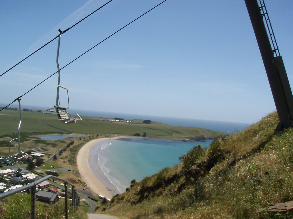 view from halfway up the Nut, at Stanley, Tasmania by gaylene