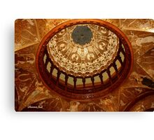 Flagler College Dome ~ Gilded Ceiling Canvas Print