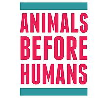 Animals Before Humans Photographic Print
