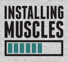 Loading Muscles - Nerd, Gamer, Geek Workout Shirt by J B