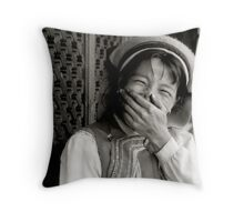 loosing face Throw Pillow