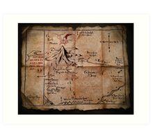 Thror's Map | Thorin Oakenshield's Map - Digital Artwork  Art Print