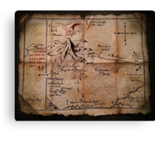 Thror's Map | Thorin Oakenshield's Map - Digital Artwork  Canvas Print