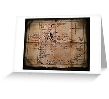 Thror's Map | Thorin Oakenshield's Map - Digital Artwork  Greeting Card