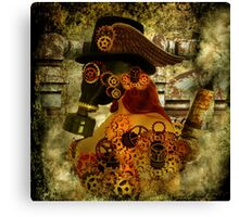 Clockwork suffocates under misinformation Canvas Print