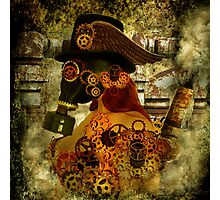 Clockwork suffocates under misinformation Photographic Print